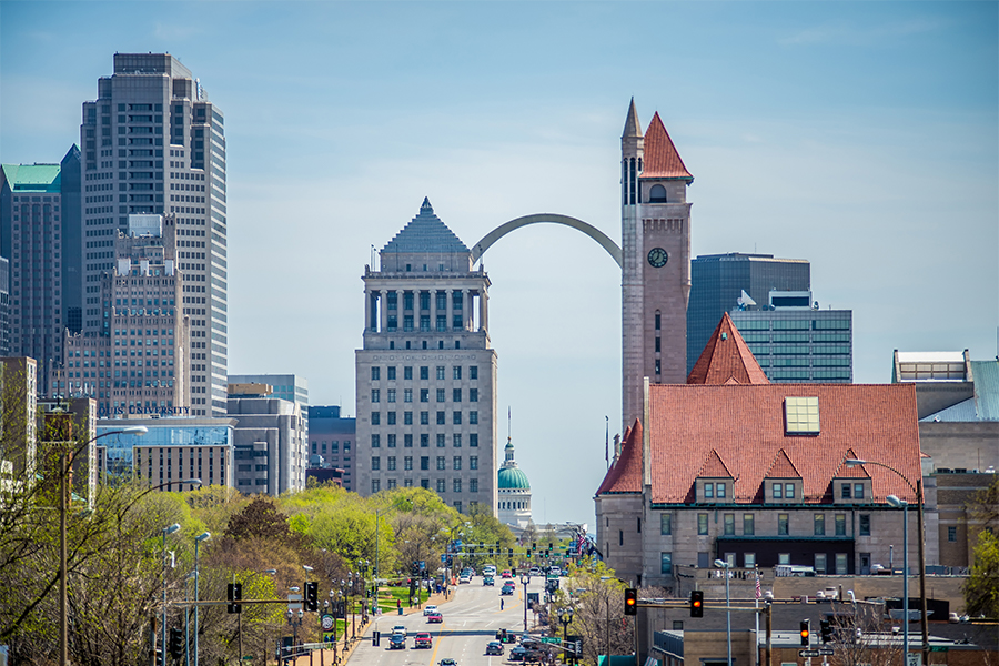 A photo of downtown St Louis